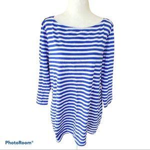 Merona Striped 3/4 Sleeve Shirt Plus Size XXL